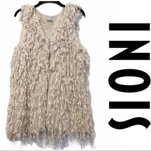 Sioni Shaggy Fringe Tassel Hippie Sweater Vest